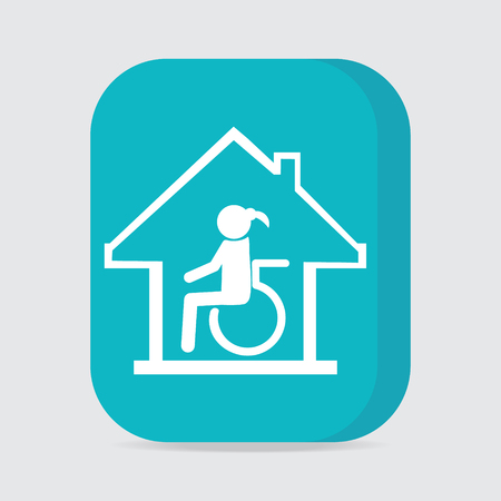 nursing: Disabled care, Nursing home sign icon