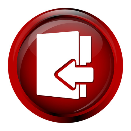 information button: File, information button icon vector illustration