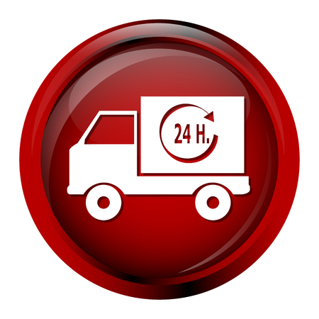 car clothes: Delivery button icon vector illustration Illustration