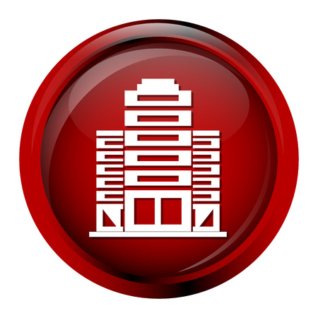 office building: Building icon, office buitding button