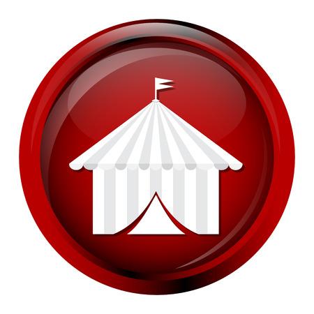 pavilion: Circus pavilion icon,  tent icon vector illustration Illustration