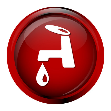 stopcock: Faucet icon sign vector illustration