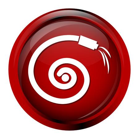 drench: Hose icon, garden hose icon Illustration