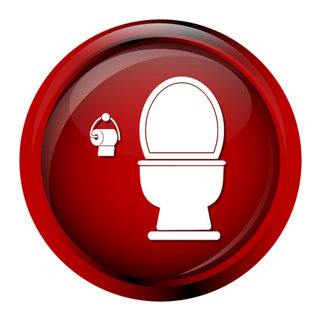 bidet: Toilet icon sign vector illustration button