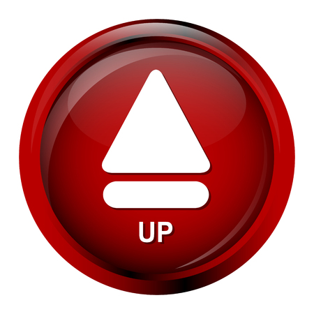 up marker: Arrow sign up button icon vector illustration Illustration