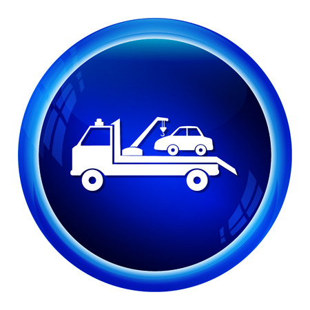 assist: Car  towing truck icon vector illustration