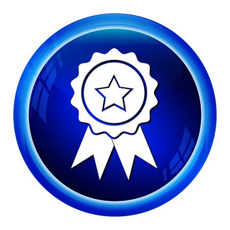 Award-Symbol-Zeichen auf blaue Taste