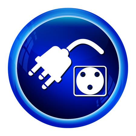 merit: Award Icon Sign on blue button Illustration