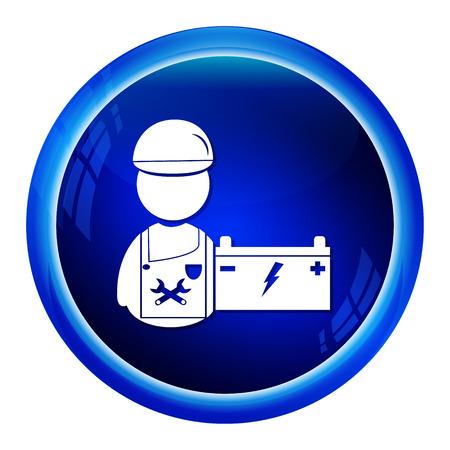 mechanic man: Car service, Mechanic man icon vector illustration Illustration
