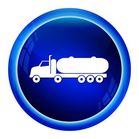 fuel truck: Fuel Truck icon , truck symbol button vector illustration