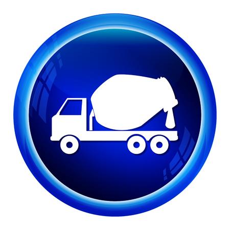 concrete mixer truck: Concrete Mixer Truck icon, symbol vector illustration