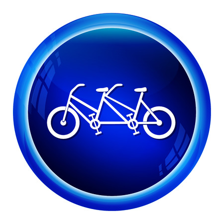 tandem bicycle: Vintage tandem bicycle icon vector illustration Illustration