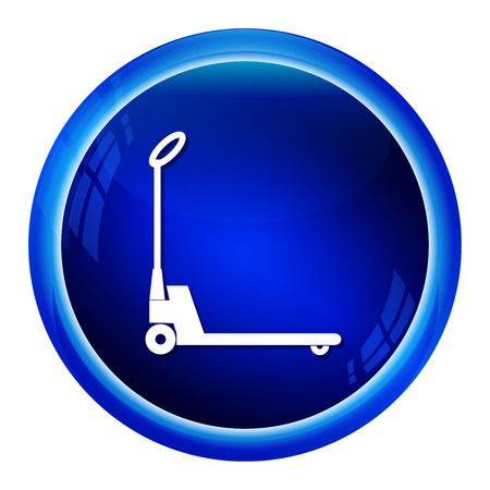 pallet: Hand pallet jack lift sign, Hand Pallet Truck icon illustration Illustration