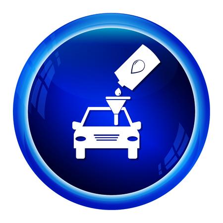 lubricant: Car service symbol,  Lubricant icon vector illustration