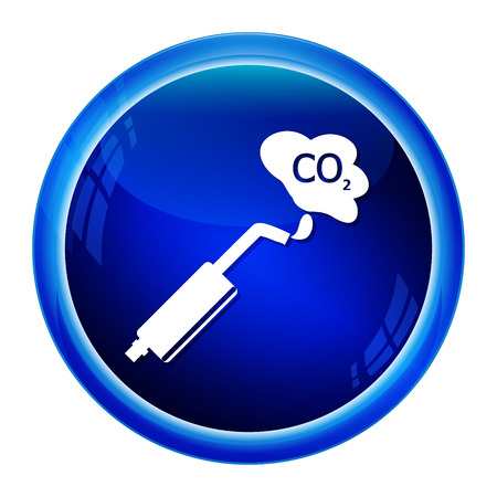 car exhaust: Car exhaust smoke icon vector illustration