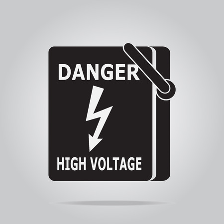 voltage symbol: Electrical switch the power voltage symbol,  warning sign