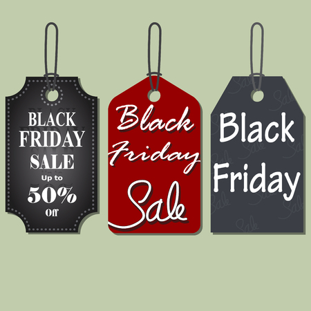 comerce: Set of Black Friday Sales Tag