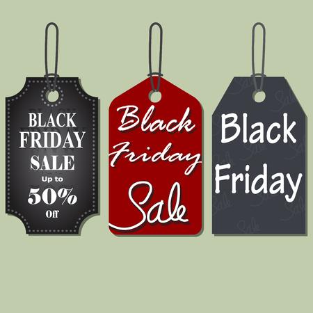 comerce: Set of Black Friday Sales Tag