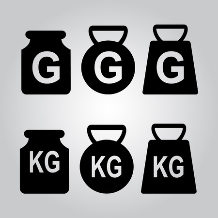 to gravity: Weight icon, symbol vector illustration