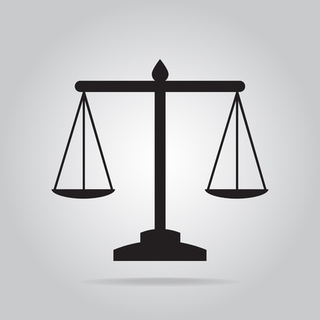 scale of justice: Justice scale icon, symbol vector illustration
