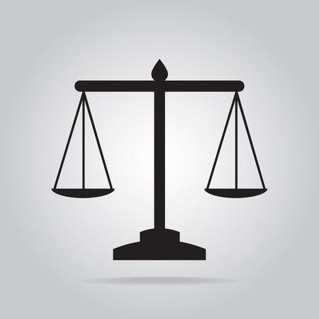 Justice scale icon, symbol vector illustration