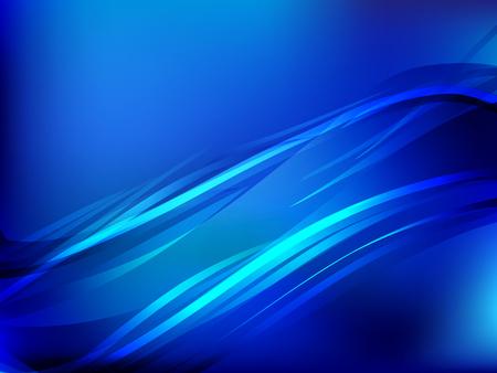 Blue résumé vague de fond