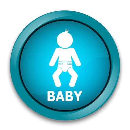 nappy: Baby with diaper icon Vector illustration