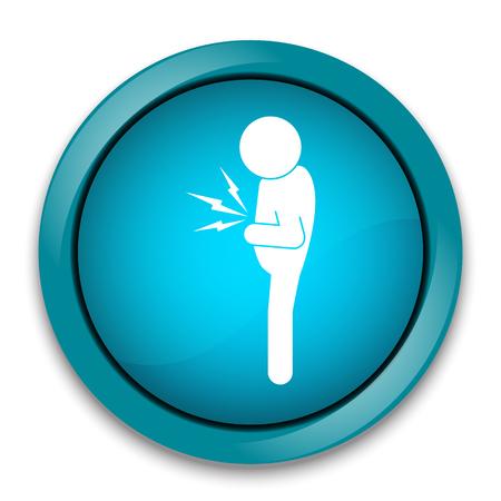 Stomach ache man sign icon illustration Vector Illustration