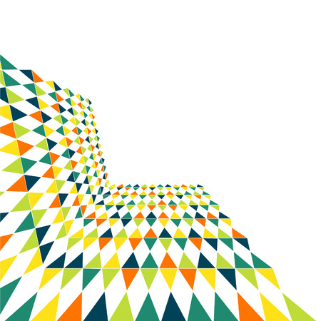 Multicolor geometric abstract background