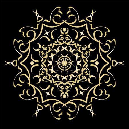 L'oro sfumatura di colore ornamento elemento astratto illustrazione vettoriale