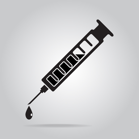 vaccine: Syringe and vaccine icon, medical sign Illustration