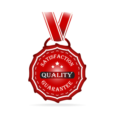 Badges, guarantee label, vector sale tag illustration