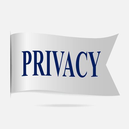 use regulation: Privacy label, silver ribbon badge
