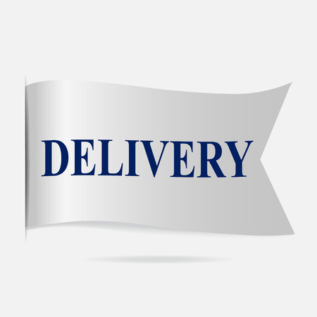 silver ribbon: Delivery label, silver ribbon badge