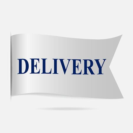 silver ribbon: Delivery label, silver ribbon badge