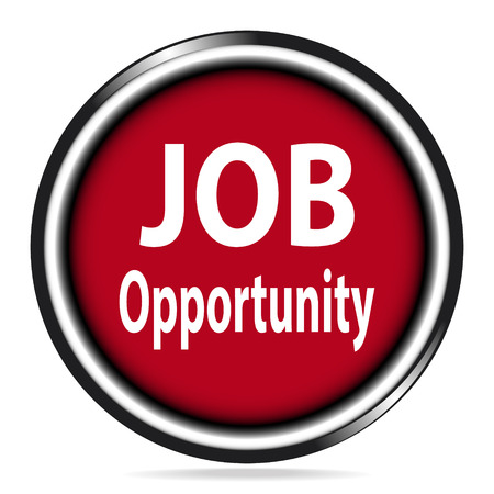 opportunity: Job Opportunity icon on red button illustration