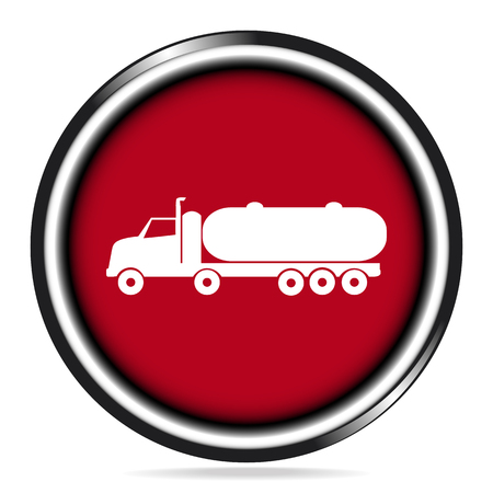 fuel truck: Fuel Truck icon , truck symbol button illustration