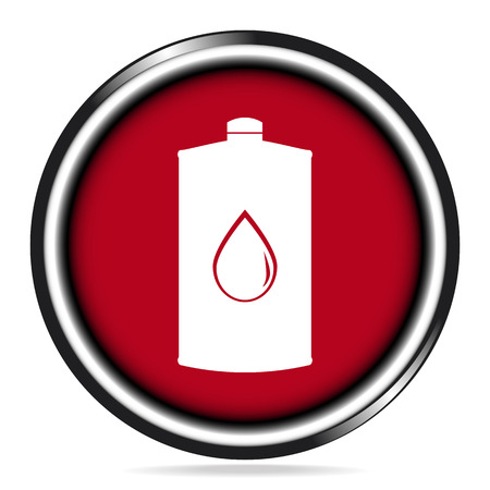 Lubricant icon on red button illustration Illustration