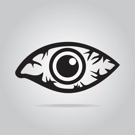 Eye redness icon, Inflammatory disease of eyes.