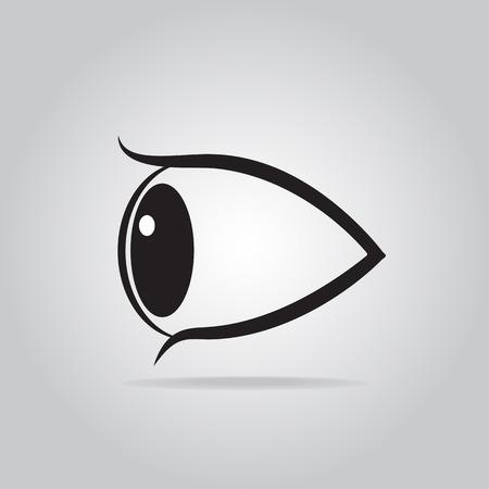 Eye icon flat style illustration Illustration