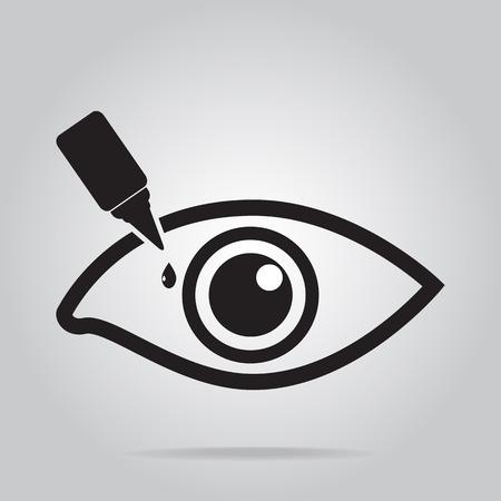 Oogdruppels pictogram, medische teken pictogram