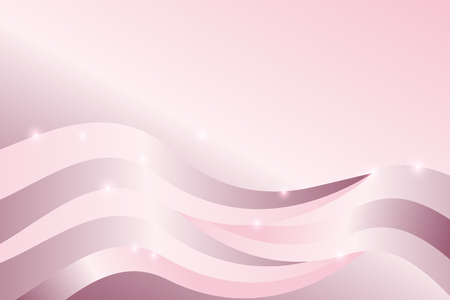 Pink gradient abstract line and wavy background Illustration