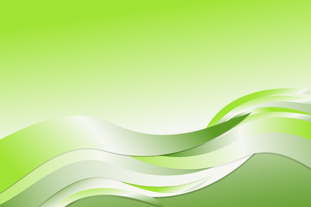 Green gradient abstract line and wavy background Illustration