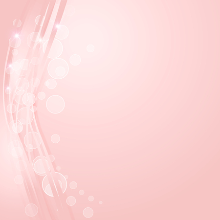 Pink gradient abstract line and wave texture background Illustration