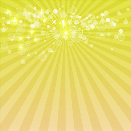 Sunburst pattern with glow abstract gold background Illustration