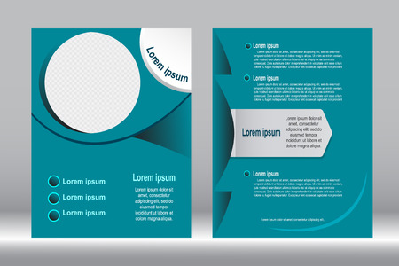 design, Brochure template green color abstract vector background.