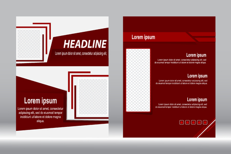 design, Brochure template red color abstract background.