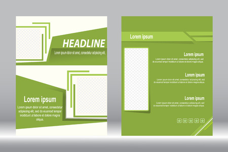 design, Brochure template green color abstract background.