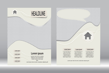 design, Brochure template abstract background. Illustration