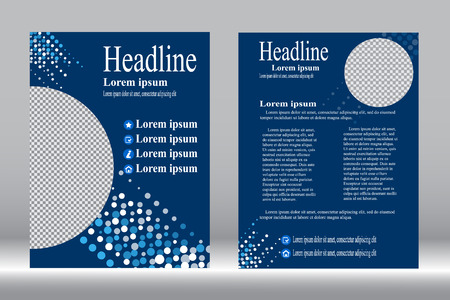 design, Brochure template blue color abstract background.